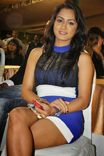 Actress Smitika Acharya  Pictures in Short Dress at Jabilli Kosam Akasamalle Audio Launch 0012.jpg